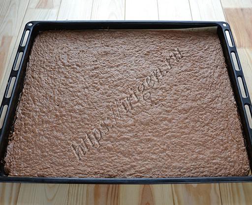 бисквитный корж после выпечки