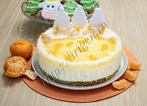 торт новогодний мандарин