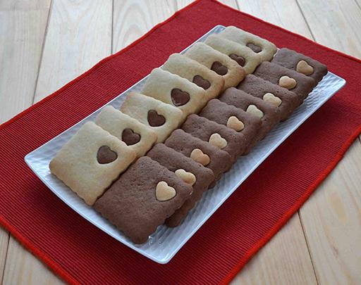 печенье песочное с сердечками