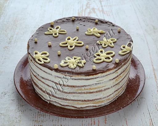 блинный торт полосатый