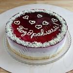торт ежевичный муссовый
