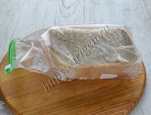 хлеб в пленке и в пакете