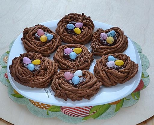 печенье пасхальные гнезда