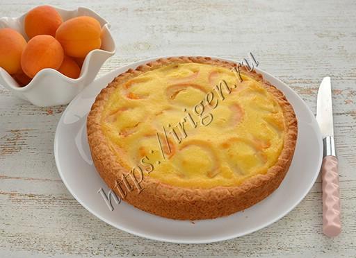 пирог абрикосовый с заливкой