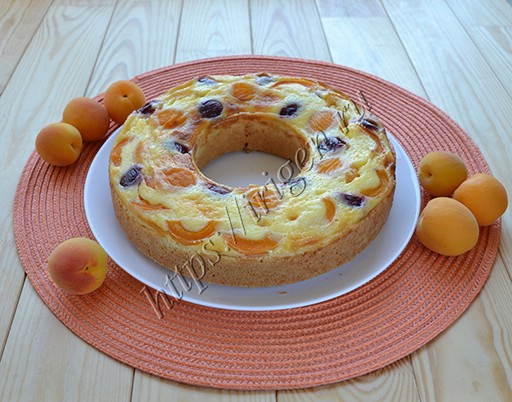 пирог абрикосовое кольцо