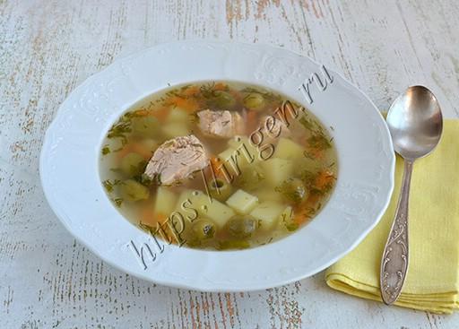 суп с тунцом и оливками