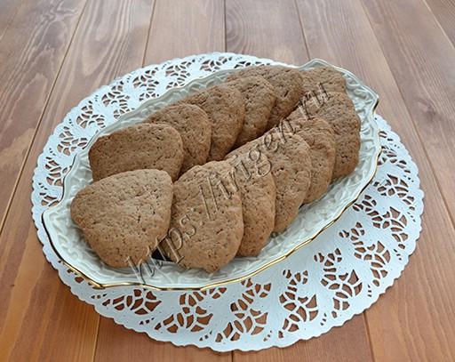печенье банановое с какао