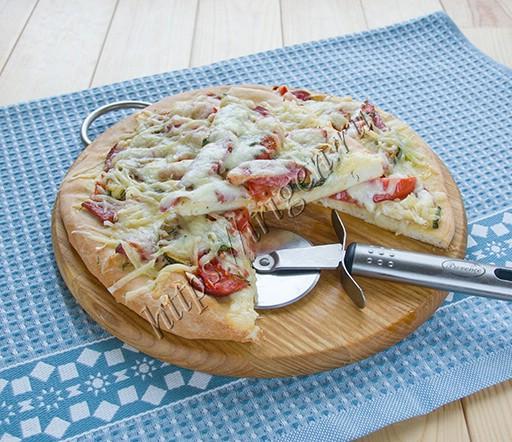 тесто бездрожжевое для пиццы на молоке