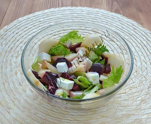 салат из свеклы с грушей Пикантный