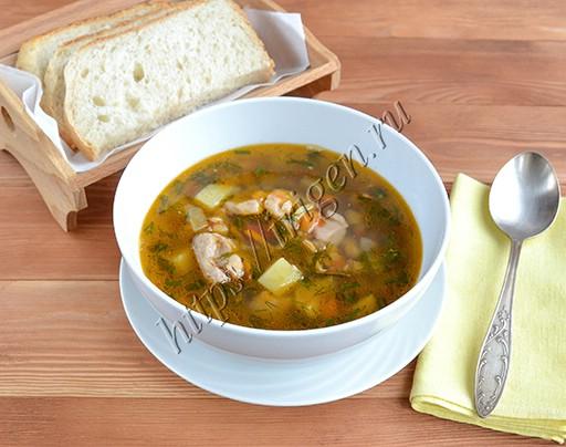 суп куриный с чечевицей в мультиварке