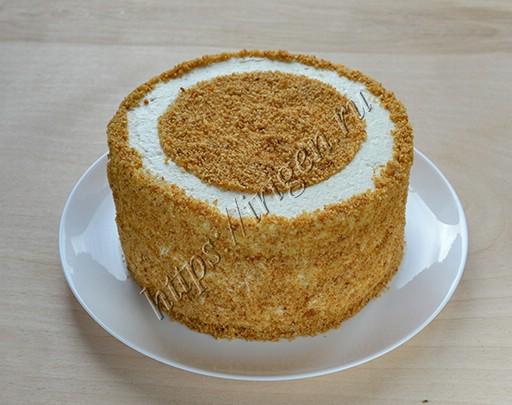 торт медовое яблочко